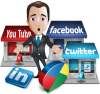 you tube, facebook, twitter, linkedin, social media, solutions, travel